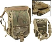 Military Army Tactical Multi-Layered Nylon Leg & Waist Pouch Carrier Bag met 2 Magazine Pouches voor Outdoor Activity(geel)