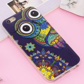 Let op type!! For iPhone 6 Plus & 6s Plus Noctilucent IMD Owl Pattern Soft TPU Back Case Protector Cover