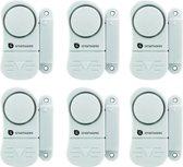 SMARTWARES set van 6 compacte magnetische alarmsystemen voor deuren, ramen, etc.