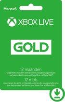 Microsoft Xbox Live Gold Abonnement 12 Maanden - Xbox 360 + Xbox One