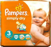Pampers Simply Dry Luiers - Maat 3 30 stuks