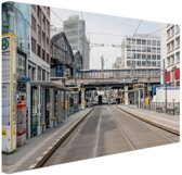Lege straat in Berlijn Duitsland Canvas 180x120 cm - Foto print op Canvas schilderij (Wanddecoratie woonkamer / slaapkamer) / Steden Canvas Schilderijen XXL / Groot formaat!