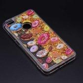 Teleplus Xiaomi Mi Max 2 Liquid Star Silicone Case + Nano Screen Protector Gold hoesje