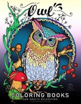 Owl Coloring Book for Adult Relaxation
