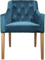 HSM Collection Armstoel Jersey - velours oceaanblauw