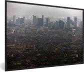 Foto in lijst - Uitzicht over de miljoenstad Lima fotolijst zwart 60x40 cm - Poster in lijst (Wanddecoratie woonkamer / slaapkamer)