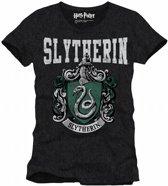 HARRY POTTER - T-Shirt Slytherin School - Grey (XL)