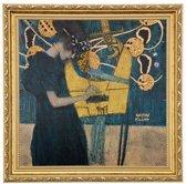 Gustav klimt: De muziek - muurschildering
