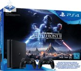 Sony Playstation 4 Slim 1TB incl. 2e controller + Star Wars Battlefront 2