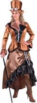 Steampunk Kostuum | Bronzen Steampunk Blackburn Fantasie | Vrouw | Small | Carnaval kostuum | Verkleedkleding