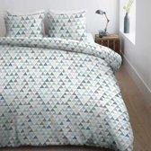 Ambiante Devin - Dekbedovertrek - Lits-jumeaux - 240x200/220 cm - Blauw