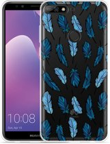 Huawei Y7 2018 Hoesje Feathers