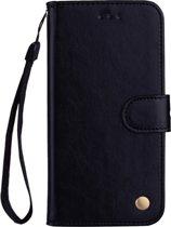 Mobigear Olie Wax Texture Luxe Wallet Book Case Zwart Samsung Galaxy A40