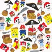 Foam stickers piraat  (96 stuks per verpakking)