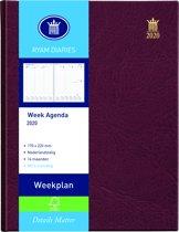 Ryam bureau Agenda 2019 - Weekplan Bordo