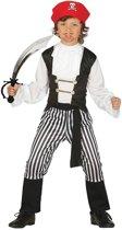 Piraten verkleedpak / kostuum - maat 128-134 met zwaard voor kinderen