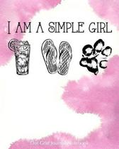 I Am a Simple Girl Dot Grid Journal Notebook
