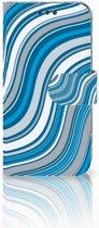 Sony Xperia XA | XA Dual Bookcase Design Waves Blue
