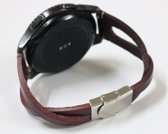Twist bandje Leer Bruin geschikt voor Samsung Galaxy Watch 42mm en Galaxy Watch Active/Active 2