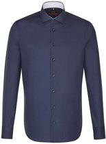 Seidensticker overhemd slim fit donkerblauw, maat 44