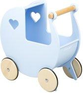 Moover Toys luxe poppenwagen blauw