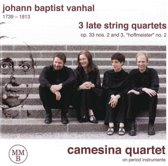 Johann Baptist Vanhal: 3 Late String Quartets