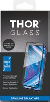 THOR Full Screenprotector + Apply Frame voor de Samsung Galaxy A70 - Zwart
