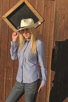 Westernblouse -Denim- jeansblauw XS