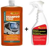Caravan Shampoo & Wax + Zwarte Strepen Reiniger Voordeel SET | Starbrite