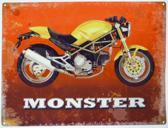 Wandbord - Monster Motor -30x40cm-