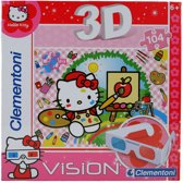 CLEMENTONI PUZZEL 3D VISION HELLO KITTY 104 DELIG