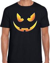 Halloween -  Halloween Scary face verkleed t-shirt zwart voor heren - horror shirt / kleding / kostuum M