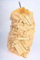 Haardhout / aanmaakhout in zak 25 liter