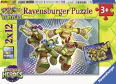 Ravensburger Teenage Mutant Ninja Turtles Twee puzzels van 12 stukjes