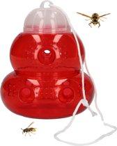 Ecovriendelijke Insecten en Wespenval – Rood – 17x11 cm | Val Tegen Wespen Bijen Vliegen en Horzels | Insectenval
