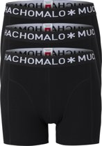 Muchachomalo boxershorts - 3-pack - zwart -  Maat M