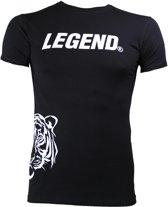 Legend Sports Logo T-shirt Zwart Maat Xl