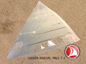 Ventoz Laser Standard MK2 Zeil COMPLEET - Wit (7.1 m2)