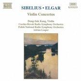 Sibelius, Elgar: Violin Concertos / Kang, Leaper