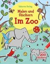 Malen und Stickern: Im Zoo