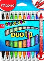 Color'Peps goed uitwasbare viltstift - DUO TIP - in ophangdoos x 10