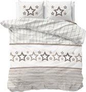 Sleeptime Stars and Stars - Dekbedovertrekset - Lits-Jumeaux - 240x200/220 + 2 kussenslopen 60x70 - Taupe