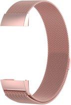 Milanees bandje Roze geschikt voor Fitbit Charge 3 - SmartphoneClip