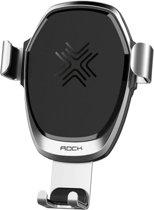 Universele telefoonhouder| draadloze autolader|Wireless car charger|QI - Zilver