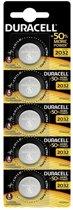 5 stuks Duracell CR2032 3volt knoopcel batterijen