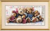 borduurpakket 35039 teddyberen op bloemetjesbank