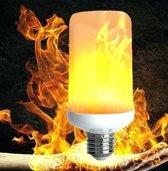 E27 Vlam LED Lamp - VuurLamp - 3w - 1800K (Kaarslicht) - 360°