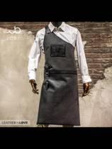 The Butcher | lederen schort | Grijs