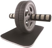 RS Sports Trainingswiel Deluxe l Buikspiertrainer l Ab wheel l dubbele trainingswiel l Incl kniemat