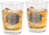 Harley-Davidson Gevleugeld Logo Whiskeyglazen-set
